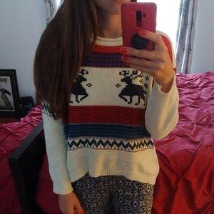 Sweaters - Christmas reindeer sweater, scoop neck